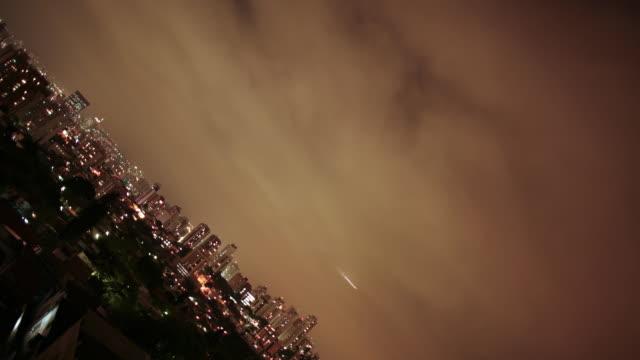 time lapse   São Paulo night clouds video