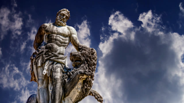Time lapse statue of hercules oberschleissheim near munich Time lapse statue of hercules oberschleissheim near munich, germany statue stock videos & royalty-free footage