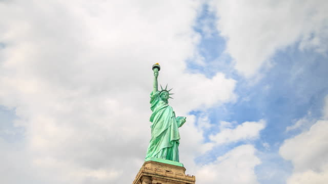 4K Time Lapse : Statue of Liberty video