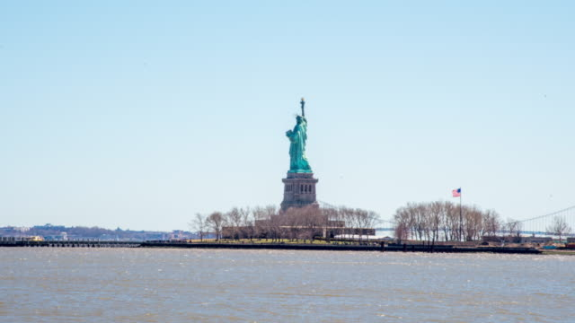 MS Time lapse Statue of Liberty,Liberty Island,New York,United States