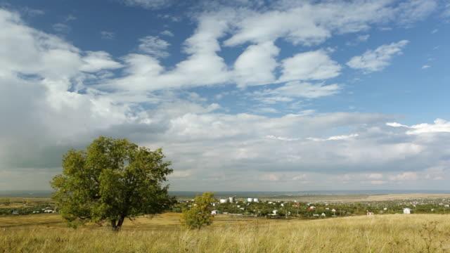 Time lapse steppe landscape video