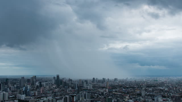 Time Lapse : Storm in the city video