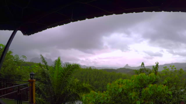 Time Lapse Storm Over ' Khao Sok' National Park , Thailand video
