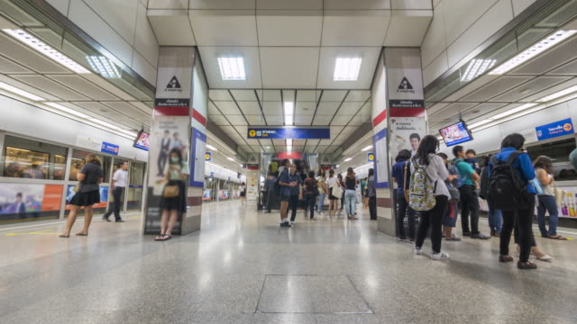 Time Lapse : Subway Train And Passenger,Thailand video