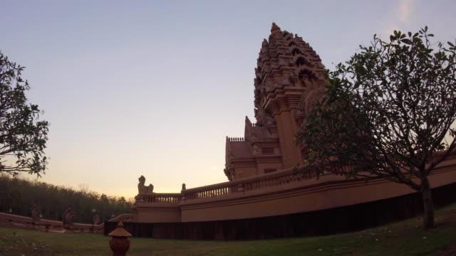 Time Lapse Sunrise At Wat Pa Khao Noi Buddhist Thai Temple video
