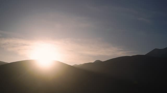 4K Time lapse, Sunrise on mountain with dramatic sky. video