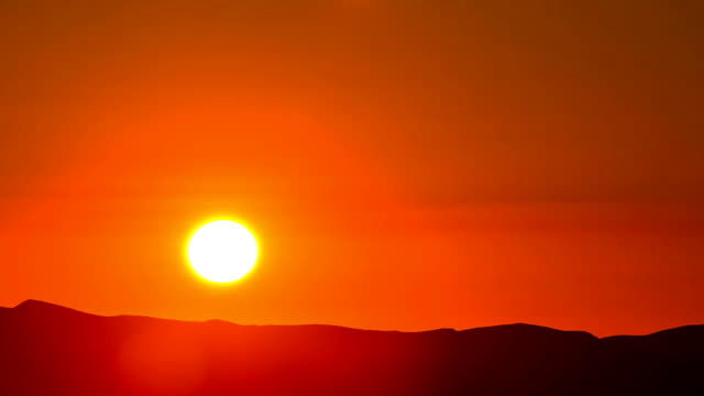 Time Lapse - Sunrise Over Mountain Ranges video
