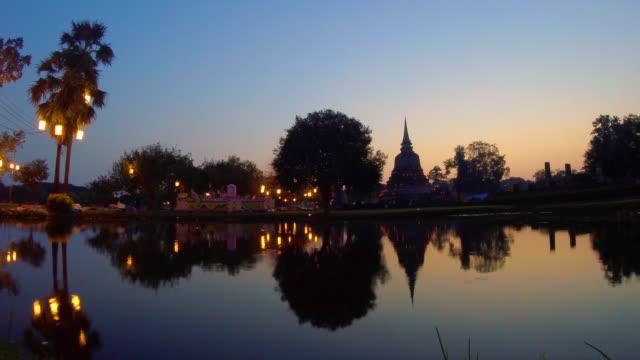 Time Lapse Sunrise Sukhothai Historical Park, Thailand video