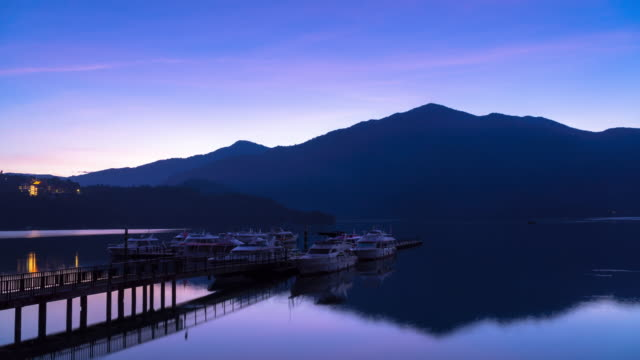 4K Time Lapse: Sunrise timelapse of Sun Moon Lake, Taiwan