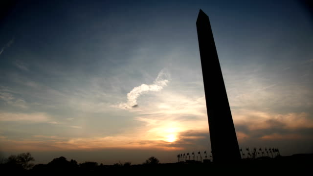 Time Lapse - Sunset Behind the Monument video