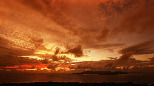 Time lapse sunset clouds video