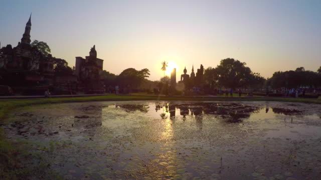 Time Lapse Sunset Sukhothai Historical Park, Thailand video