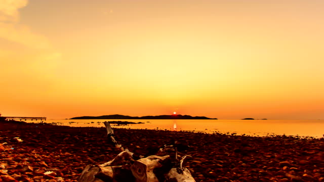 Time lapse sunset / sunrise over the ocean. video