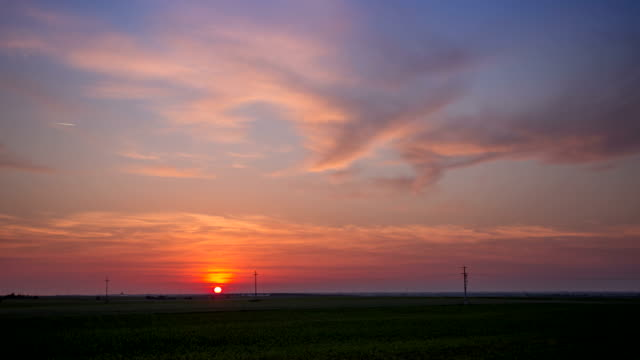 4K Time lapse - Sunset video