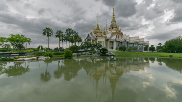 Time Lapse: Temple at Wat None Kum in Nakhon Ratchasima province Thailand video