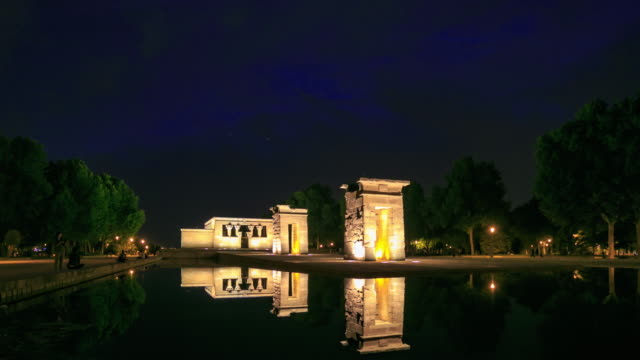 4K Time Lapse : Temple Debod video