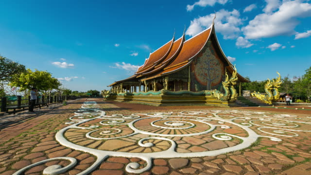 Time Lapse: Temple Sirindhorn Wararam Phuproud in Ubon Ratchathani Province, Thailand. video
