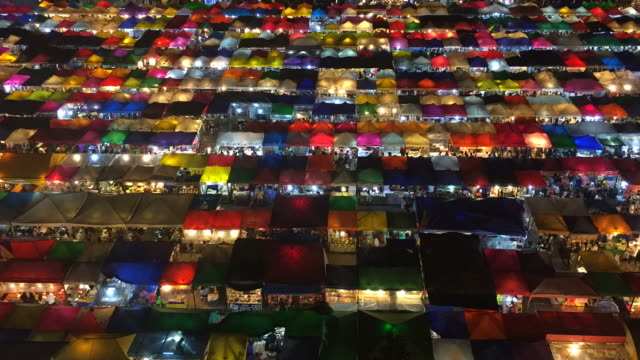 Time lapse: The night market in Bangkok, Thailand video