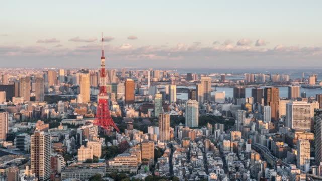 Time-lapse - Tokyo van dag naar nacht (uitzoomen) video