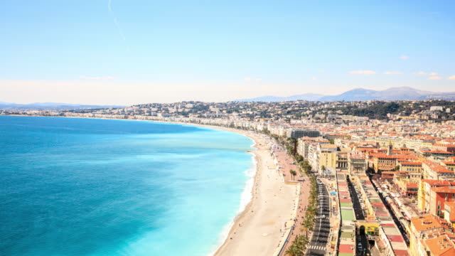 4K Time Lapse : Top view in Nice, France video