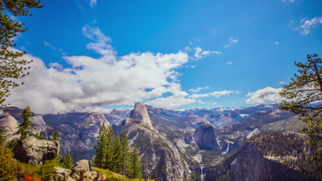Time Lapse - Tourists at Glacier Point in Yosemite - 4K