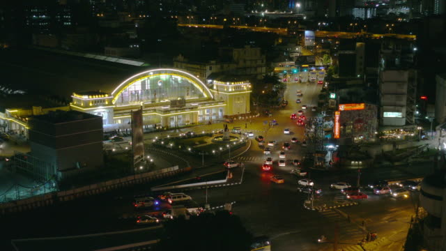 Time Lapse, Traffic, Aerial view night Cityscape with Traffic on Turnpike Highway at downtown Bangkok. 4K, Time Lapse, Traffic and Aerial view night Cityscape with Traffic on Turnpike Highway at downtown Bangkok, Thailand. sunset to night time lapse stock videos & royalty-free footage