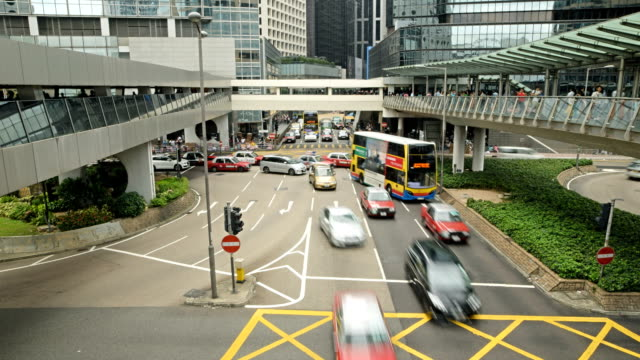 Time Lapse - Traffic jam in Hong Kong video
