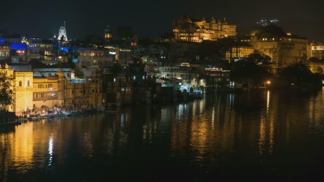 Time lapse Udaipur night, Rajasthan, India video