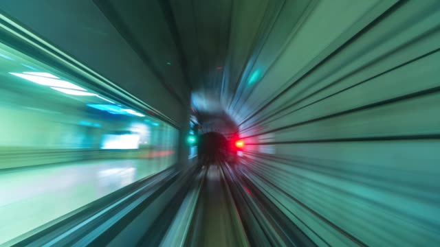 4K Time lapse Underground railways Fast Speed Motion of Singapore city