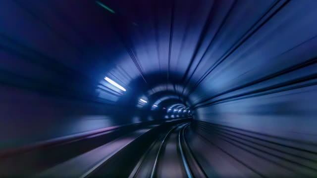 4K Time lapse Underground railways Fast Speed Motion 4K Time lapse Underground railways Fast Speed Motion tramway videos stock videos & royalty-free footage