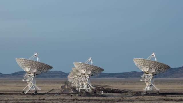 Time lapse Very Large Array Radio Telescopes video
