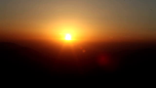 Time Lapse Vide Of Sunset View On Nemrud Dagh video