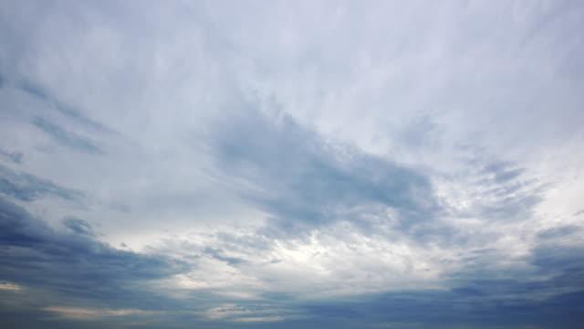 4kで雲景を変えるタイムラプスビデオ - 層積雲点の映像素材/bロール