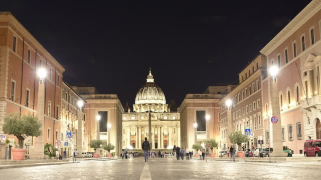 time lapse video of saint peter basilica in rome, italy. - peter the apostle video stock e b–roll