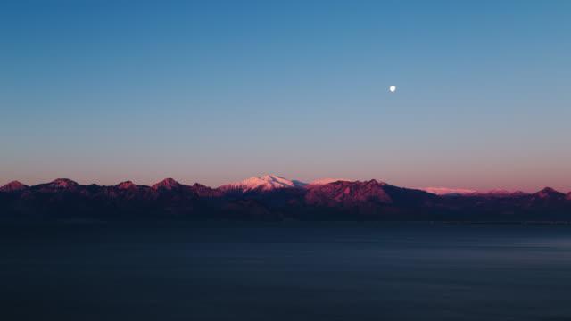 time lapse video av soluppgången i antalya - pink sunrise bildbanksvideor och videomaterial från bakom kulisserna
