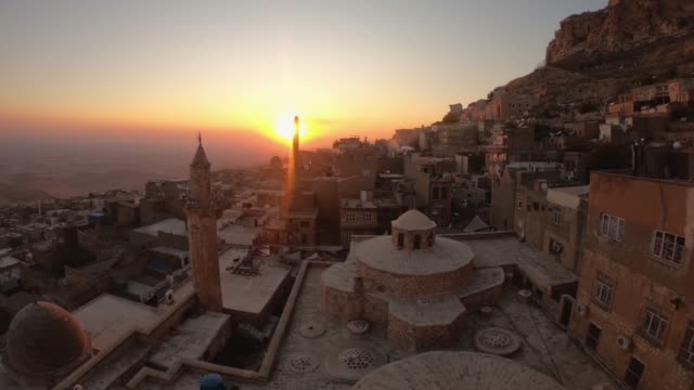 Time lapse video of sunset in Mardin Old city cityscape, Mardin, Turkey Mardin, Turkey - November 2019: Time lapse video of sunset in Mardin Old city cityscape mardin stock videos & royalty-free footage