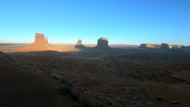 Time lapse video of sunset in Monument Valley