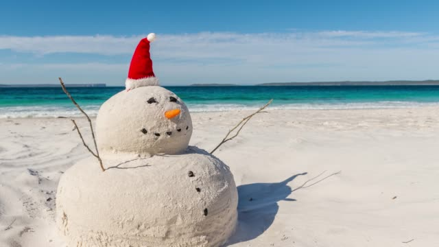 Time lapse video of the Australian Christmas Sandman
