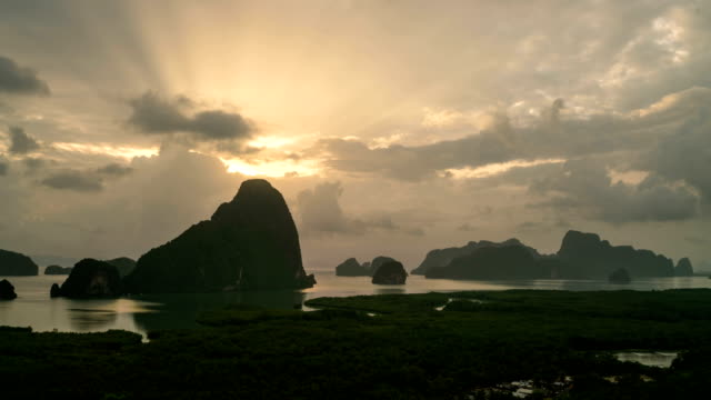 Time lapse view at Halong Bay, North Vietnam. video