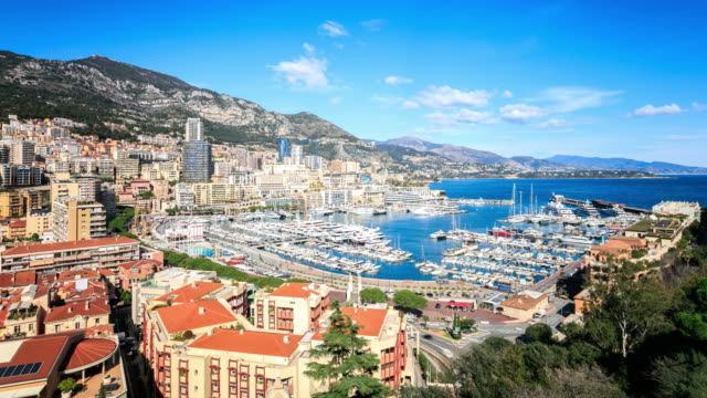 4K Time Lapse : View in harbor of Monaco video