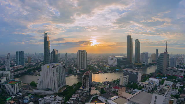 4K, Time lapse View of Bangkok and skyscraper in Bangkok city downtown at Chao Phraya River Bangkok of Thailand 4K, Time lapse View of Bangkok and skyscraper in Bangkok city downtown at Chao Phraya River Bangkok of Thailand aerial map stock videos & royalty-free footage