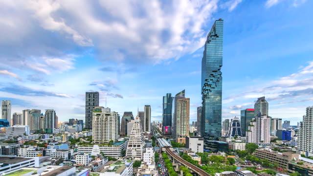 4k, bangkok city tayland time lapse görünümü - bangkok stok videoları ve detay görüntü çekimi