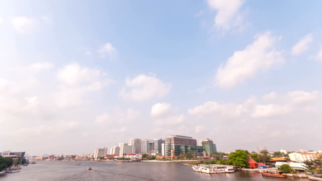 HD time lapse: view of Bangkok cityscape with Chaopraya river video