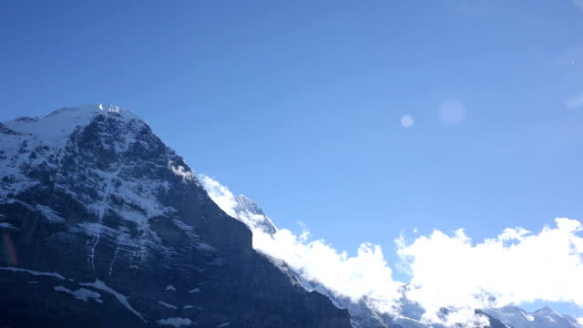 Time lapse view of clouds gathering around Eiger, North Face video
