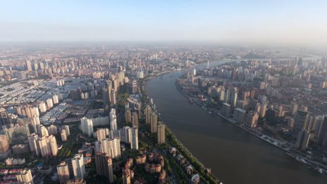 intervallo di tempo vista della skyline di shanghai/shanghai, cina - 2016 video stock e b–roll