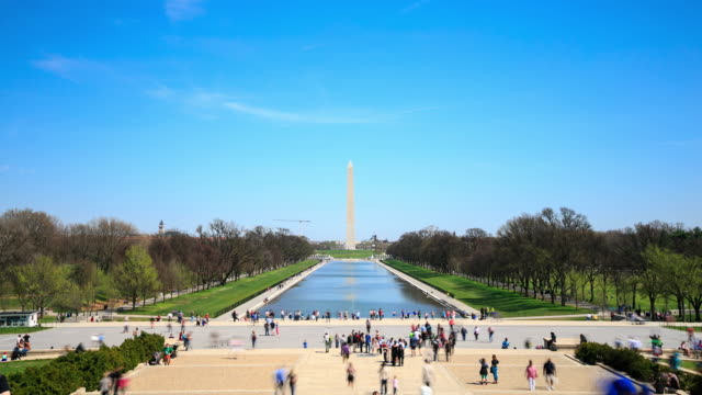 vidéos et rushes de time lapse 4 k: le washington monument - monument