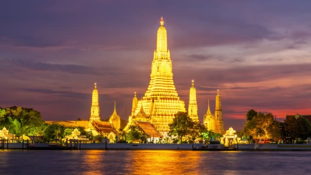 time lapse wat arun - tempio video stock e b–roll