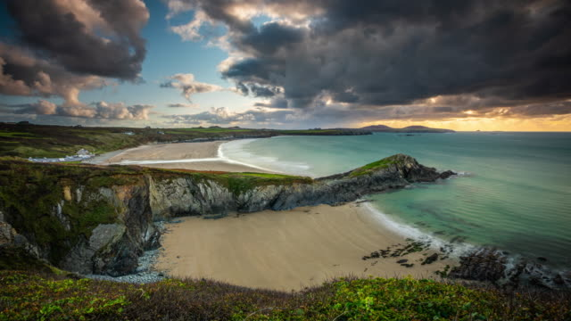 Time Lapse: Whitesands beach on the Pembrokeshire coast path near St Davids, Wales