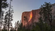 istock 4K Time lapse Yosemite National Park with the horsetail waterfall creating the Fire fall effect at Sunset 1306054881