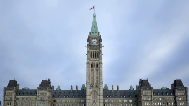 Time lapse zoom out Parliament Hill building video